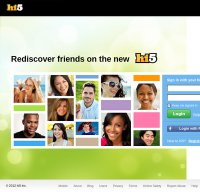 hi5.com screenshot