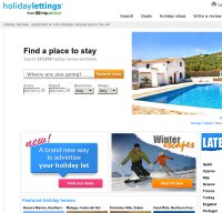holidaylettings.co.uk screenshot