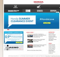 honda.com screenshot