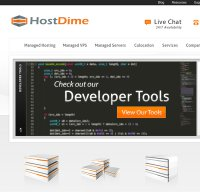 hostdime.com screenshot