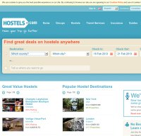 hostels.com screenshot