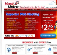 hostmetro.com screenshot