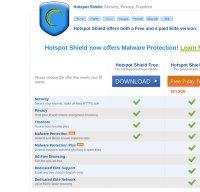 hotspotshield.com screenshot