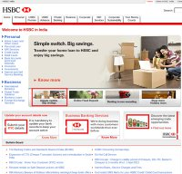 hsbc.co.in screenshot