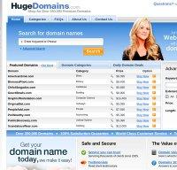 hugedomains.com screenshot