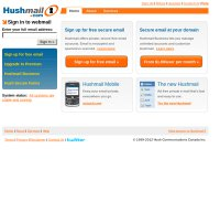 hushmail.com screenshot