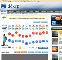 idokep.hu screenshot