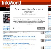 infoworld.com screenshot