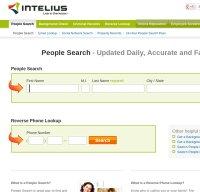 intelius.com screenshot