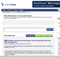 investorvillage.com screenshot