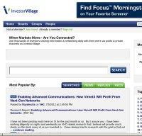 investorvillage.com screenshot