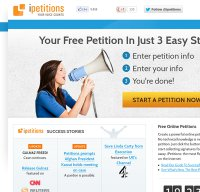 ipetitions.com screenshot