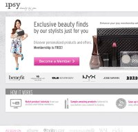 ipsy.com screenshot