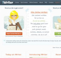 iwriter.com screenshot
