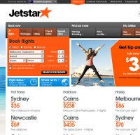 jetstar.com screenshot