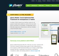jquerymobile.com screenshot