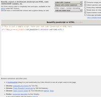 jsbeautifier.org screenshot
