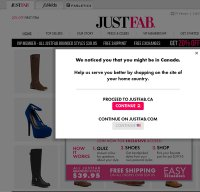 justfab.com screenshot