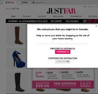 justfab.com screenshot