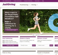 justgiving.com screenshot