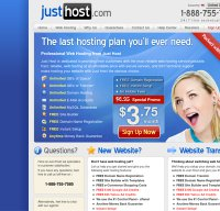 justhost.com screenshot