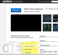 justin.tv screenshot
