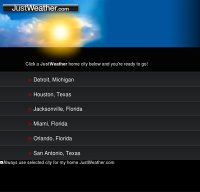 justweather.com screenshot