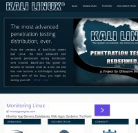 kali.org screenshot