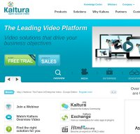 kaltura.com screenshot