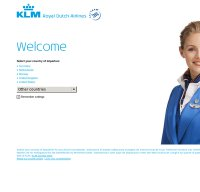 klm.com screenshot