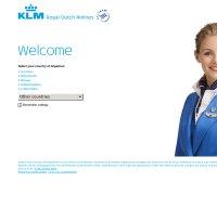 klm.com screenshot