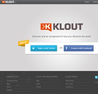 klout.com screenshot