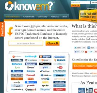 knowem.com screenshot
