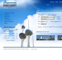 kuwaitairways.com screenshot
