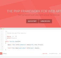 laravel.com screenshot