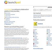 launchpad.net screenshot