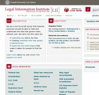 law.cornell.edu screenshot