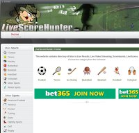 livescorehunter.com screenshot