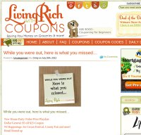 livingrichwithcoupons.com screenshot
