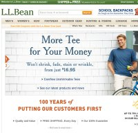 llbean.com screenshot