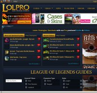 lolpro.com screenshot