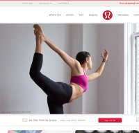 lululemon.com screenshot