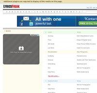 lyricsfreak.com screenshot