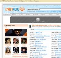 lyricsmode.com screenshot