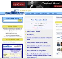 mailinator.com screenshot