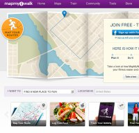 mapmywalk.com screenshot