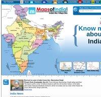 mapsofindia.com screenshot