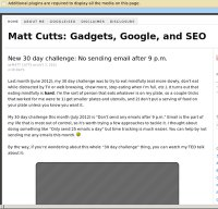 mattcutts.com screenshot
