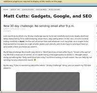 mattcutts.com screenshot