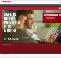 mcafee.com screenshot